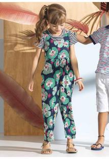 Jardineira Infantil Menina Que Acompanha Blusa Fio Tinto Puc Lab Por Lenny Niemeyer