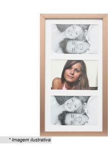 Painel Multifotos Insta- Bronze & Branco- 38X21X1,5Ckapos