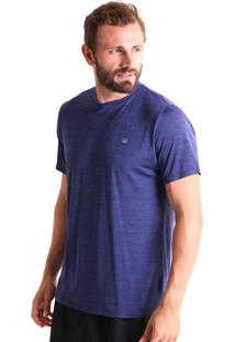 Camiseta Básica Liquido Mescla Boy - Azul Claro M