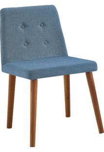 Cadeira Vega Base Gota Madeira Tauari Linho Daf