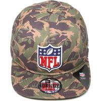 Boné New Era Snapback The Golfer Military Division Nfl Verde Marrom da30e2451bb