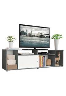 Rack Para Tv Até 65 Polegadas Madesa Cancun Cinza/Branco Cor:Cinza/Branco