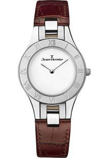Relógio Analógico Jv07303Prata- Prateado & Marrom- Jjean Vernier
