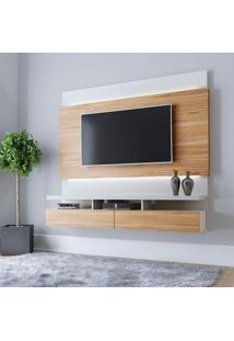 Painel Para Tv Até 60 Polegadas Lofty Cinamomo E Off White