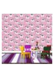 Papel De Parede Adesivo - Zebras - Infantil - Rosa - 340Ppi