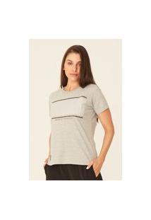 Camiseta Ecko Feminina Estampada Cinza Mescla