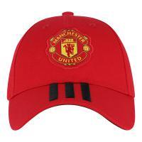 2fea063225 Boné Aba Curva Manchester United 3S Adidas - Strapback - Adulto -  Vermelho Preto