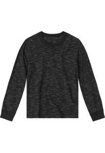 Camiseta Infantil Manga Longa Rovitex Menino Preto - 4