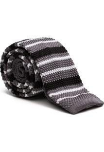 Gravata Tricot Stripe Grey