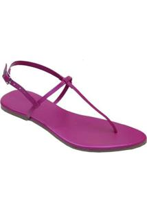 Rasteira Mercedita Shoes Metalizada Confortável Feminina - Feminino-Pink