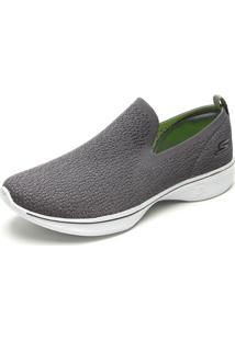 Slipper Skechers Go Walk 4 - Gifted Cinza