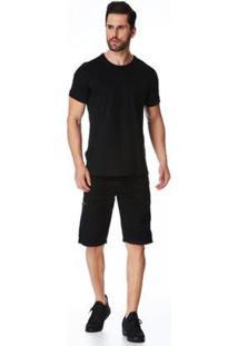 Bermuda Jeans Zait Tradicional Victor Masculina - Masculino-Preto