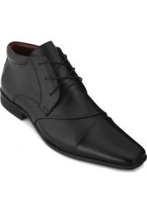 Sapato Pro Mais Couro Masculino - Masculino-Preto