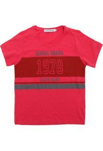 Camiseta Calvin Klein Kids Menina Escrita Vermelha