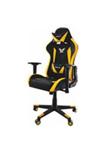Cadeira Gamer Pro Eaglex Giratoria Reclinavel Ajuste De Altura - Amarela