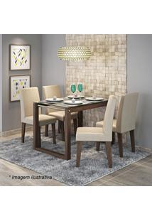 Conjunto De Mesa & Cadeiras Anita Para 4 Lugares- Marroccimol