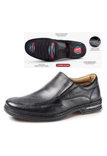 Sapato Rafarillo Social Masculino Confort Em Couro Preto