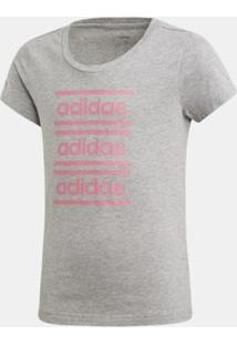 Blusa Adidas Yg Cf Tee Cinza Infantil