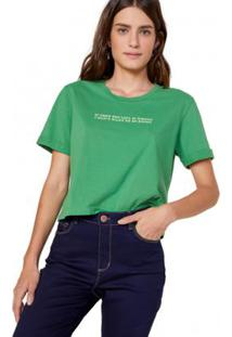 Camiseta Amaro If Crop Feminina - Feminino