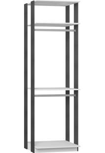 Estante Cabideiro Branco Tx/Expresso Be Mobiliário