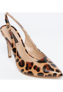 Sapato Chanel Em Couro - Bege & Preto - Salto: 11Cmjorge Bischoff