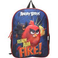 ce7bacd1be Mochila Santino 3D Angry Birds Azul Vermelha