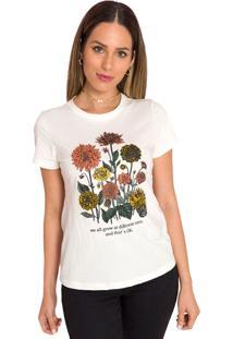 Camiseta Manga Curta Sislla Areia
