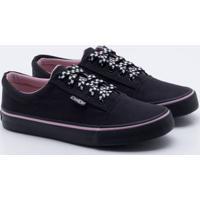c54b0809f3 Lojas Paqueta. Tênis Capricho Shoes Break Grid Lace Preto 36