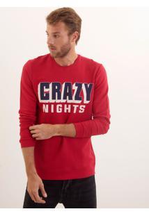 Casaco John John Crazy Nights Moletom Vermelho Masculino Casaco Crazy Nights-Vermelho Medio-G