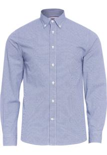 Camisa Masculina Mini Printed - Azul