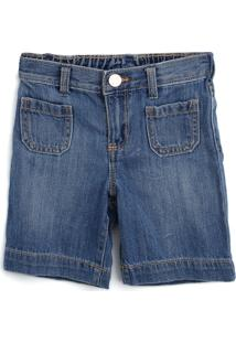 Bermuda Jeans Gap Infantil Bolsos Azul