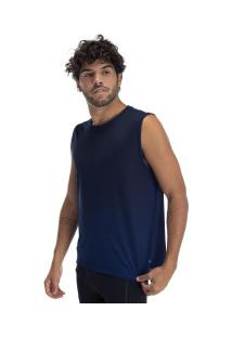 Camiseta Regata Oxer Rillo - Masculina - Azul Escuro