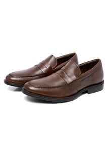 Sapato Masculino Marrom Em Couro 9400