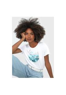 Camiseta Habana Estampada Branca