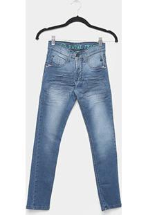 Calça Jeans Juvenil Fatal Reta Básica Masculina - Masculino