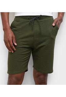 Bermuda Moletom Ellus Jogger Masculina - Masculino-Verde Militar