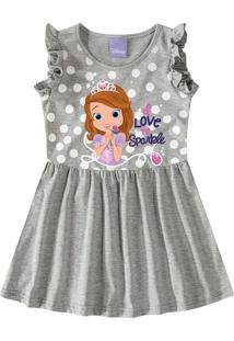 Vestido Evasê Princesinha Sofia® Menina Malwee Kids