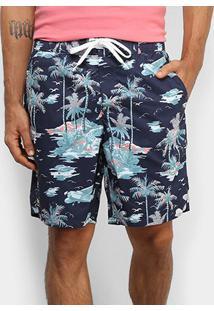 Bermuda Lacoste Tropical Masculina - Masculino-Marinho