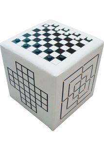 Puff Cubo Jogos Nobre Corino Branco