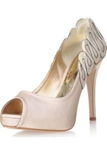 Peep Toe Paola Constance Waves Ouro