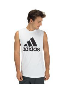 Camiseta Regata Adidas Mh Bos Tank - Masculina - Branco/Preto
