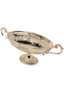 Centro De Mesa Decorativo Com Banho De Prata Trophy Grande