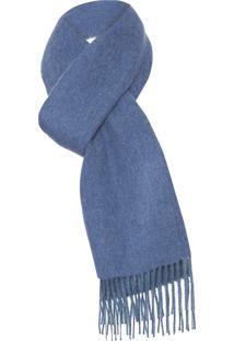 Cachecol Unissex De Alpaca - Azul