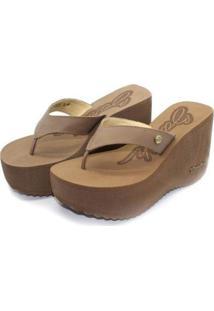 Tamanco Barth Shoes Sorvete Bicolor Feminino - Feminino-Marrom Escuro