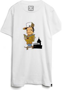 Camiseta Dc Shoes Menino Estampa Branca