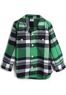 Camisa Gap Menino Xadrez Verde