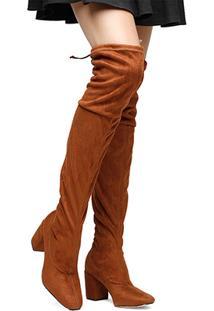 Bota Meia Over The Knee Shoestock Salto Grosso Feminina - Feminino