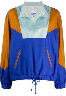 Sjyp Colour-Block Pullover Jacket - Azul
