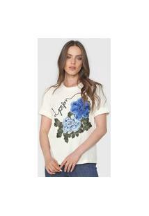 Camiseta Lança Perfume Flor Off-White