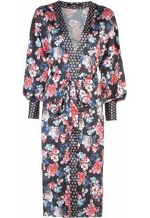 Kimono Estampado Detalhe No Punho
